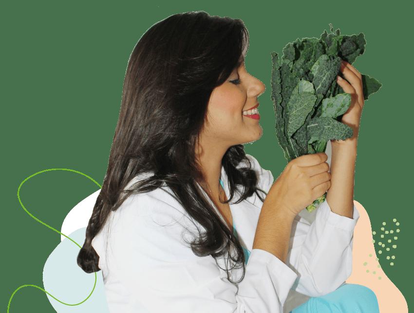 kale nutricionista hojas